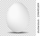 white egg on transparent... | Shutterstock .eps vector #1346401604