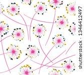 dandelion blowing plant vector... | Shutterstock .eps vector #1346412497
