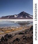laguna blanca is a salt lake at ... | Shutterstock . vector #1346432444