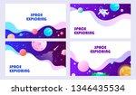 set of templates for web banner ... | Shutterstock .eps vector #1346435534