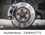 car brake disc with brake pad.... | Shutterstock . vector #1346441771