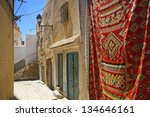Detail of small street in Sousse, Tunisia - stock photo