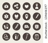 medical icons | Shutterstock .eps vector #134646197