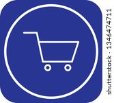 illustration trolley icon  | Shutterstock . vector #1346474711
