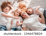 happy family  mother with... | Shutterstock . vector #1346478824