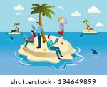 a small tropical island... | Shutterstock .eps vector #134649899