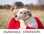 family tour. dog walking | Shutterstock . vector #1346510291