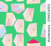 seamless postal envelope...   Shutterstock . vector #1346516501