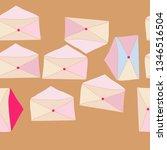 horizontal postal envelope... | Shutterstock . vector #1346516504