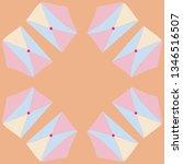 postal envelope pattern.... | Shutterstock . vector #1346516507