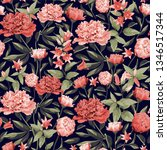 seamless floral pattern with... | Shutterstock .eps vector #1346517344