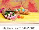 tulip flower bouquet. healthy... | Shutterstock . vector #1346518841