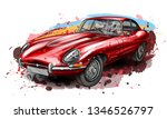 Sports Retro Car Jaguar E Typ...