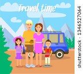 travel time square banner.... | Shutterstock .eps vector #1346527064