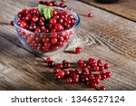 Raw Fresh Cranberries In A...