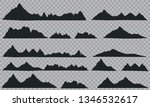 mountains silhouettes on the... | Shutterstock .eps vector #1346532617