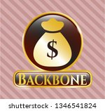 shiny badge with money bag... | Shutterstock .eps vector #1346541824