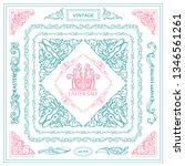 vector set of vintage corners... | Shutterstock .eps vector #1346561261