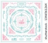 vector set of vintage corners... | Shutterstock .eps vector #1346561264