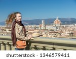 girl looking at the city of... | Shutterstock . vector #1346579411