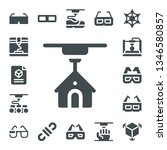 dimensional icon set. 17 filled ... | Shutterstock .eps vector #1346580857
