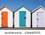 A Set Of Three Colorful Beach...