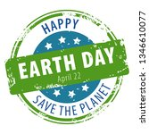 happy earth day april 22 rubber ...   Shutterstock . vector #1346610077