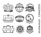 travel badges set | Shutterstock . vector #134662031