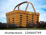 NEWARK, OHIO - NOVEMBER 19: The unique basket shaped Longaberger Company home office building November 19, 2012. Most known for their custom, handmade baskets that resemble the building. - stock photo
