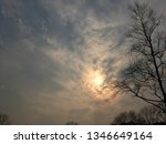sun shines through the clouds.... | Shutterstock . vector #1346649164