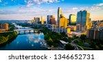 panoramic sunrise aerial drone... | Shutterstock . vector #1346652731