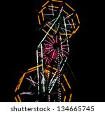 Amusement Park Ferris Wheel At...