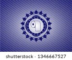 toilet paper icon inside badge... | Shutterstock .eps vector #1346667527