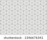 ornament with elements of black ... | Shutterstock . vector #1346676341