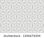 ornament with elements of black ... | Shutterstock . vector #1346676344