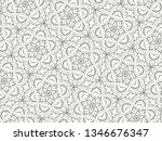 ornament with elements of black ... | Shutterstock . vector #1346676347