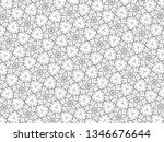 ornament with elements of black ... | Shutterstock . vector #1346676644