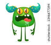 angry cartoon troll character.... | Shutterstock .eps vector #1346677394