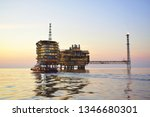 asia oil and gas offshore... | Shutterstock . vector #1346680301