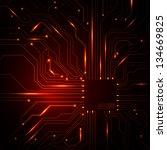 technological vector background ... | Shutterstock .eps vector #134669825