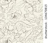 seamless floral pattern with... | Shutterstock .eps vector #134670815