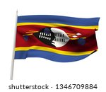 swaziland flag floating in the... | Shutterstock . vector #1346709884
