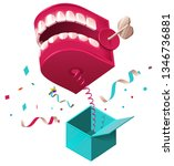 false jaw surprise for april 1... | Shutterstock .eps vector #1346736881