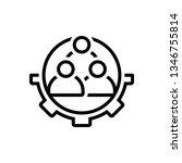 vector icon for workforce ... | Shutterstock .eps vector #1346755814
