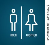 Restroom Male And Female Sign...