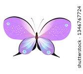 beautiful pink butterflies...   Shutterstock .eps vector #1346767724
