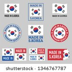 made in south korea icon set ... | Shutterstock .eps vector #1346767787