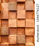 Small photo of Natural North America Golden Brown square wooden blocks randomly shuffling patterns with wood year rings, dendrochronology, background wallpaper texture on each of the block.