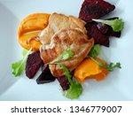 top view of grilled chicken... | Shutterstock . vector #1346779007