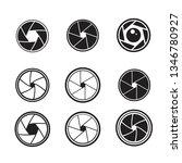 camera shutter icons set | Shutterstock .eps vector #1346780927
